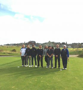 Golfers in St Andrews
